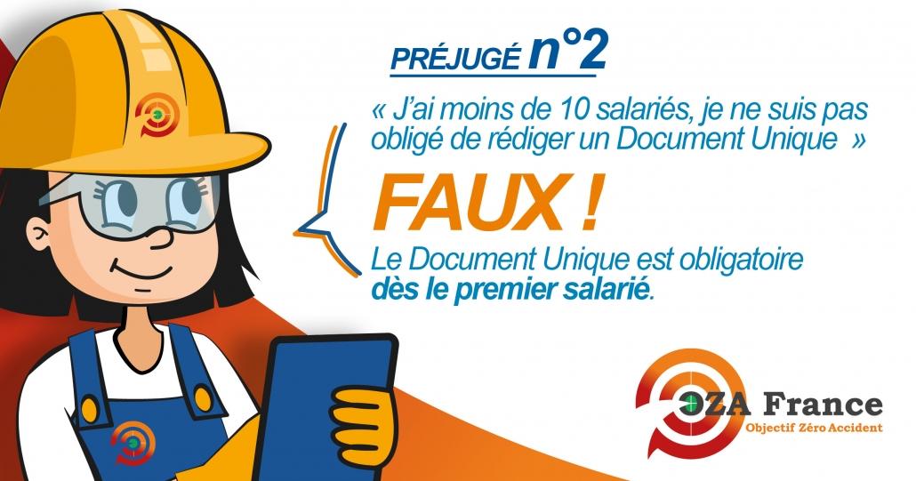 Le document unique est obligatoire dès le premier salarié